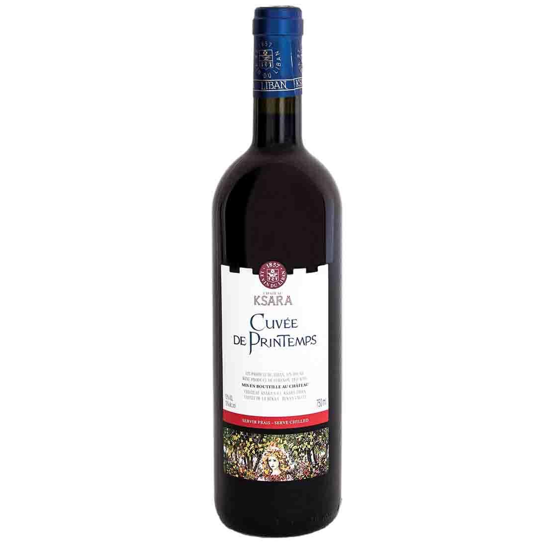 chateau ksara refreshing chilled Lebanese red wine cuvee du printemps gamay tempranillo bekaa valley