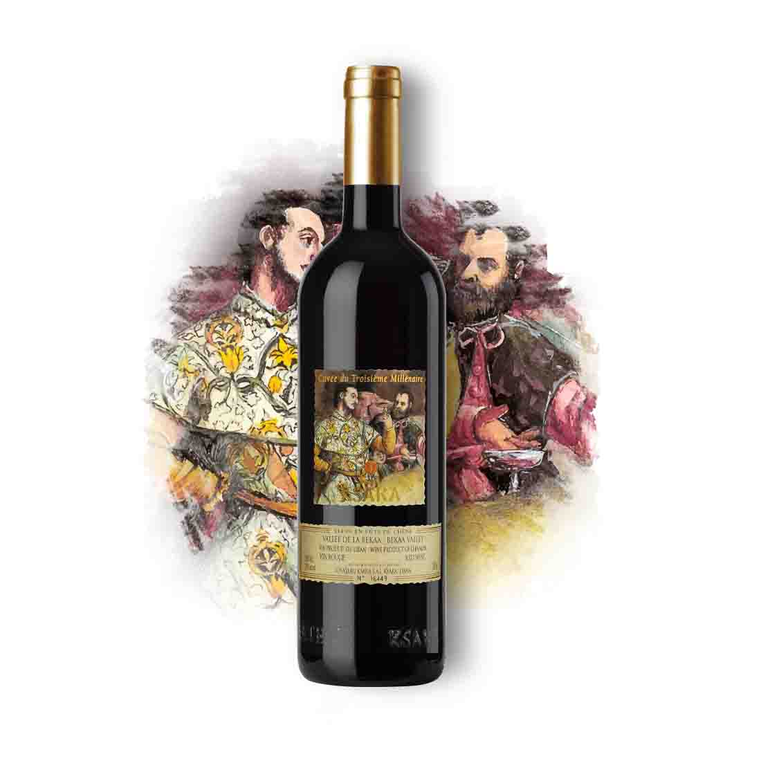 ksara collectible vintage Lebanese red wine 3eme millenaire petit verdot cabernet franc syrah bekaa