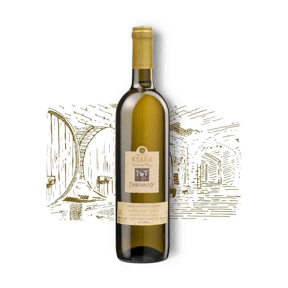 ksara oaked collectible vintage aging rare gold Lebanese white wine chardonnay cuvee du pape bekaa