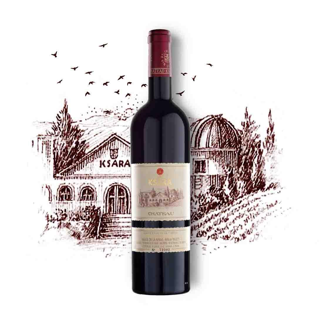 chateau ksara collectible vintage Lebanese red wine cabernet sauvignon merlot petit Verdot bekaa