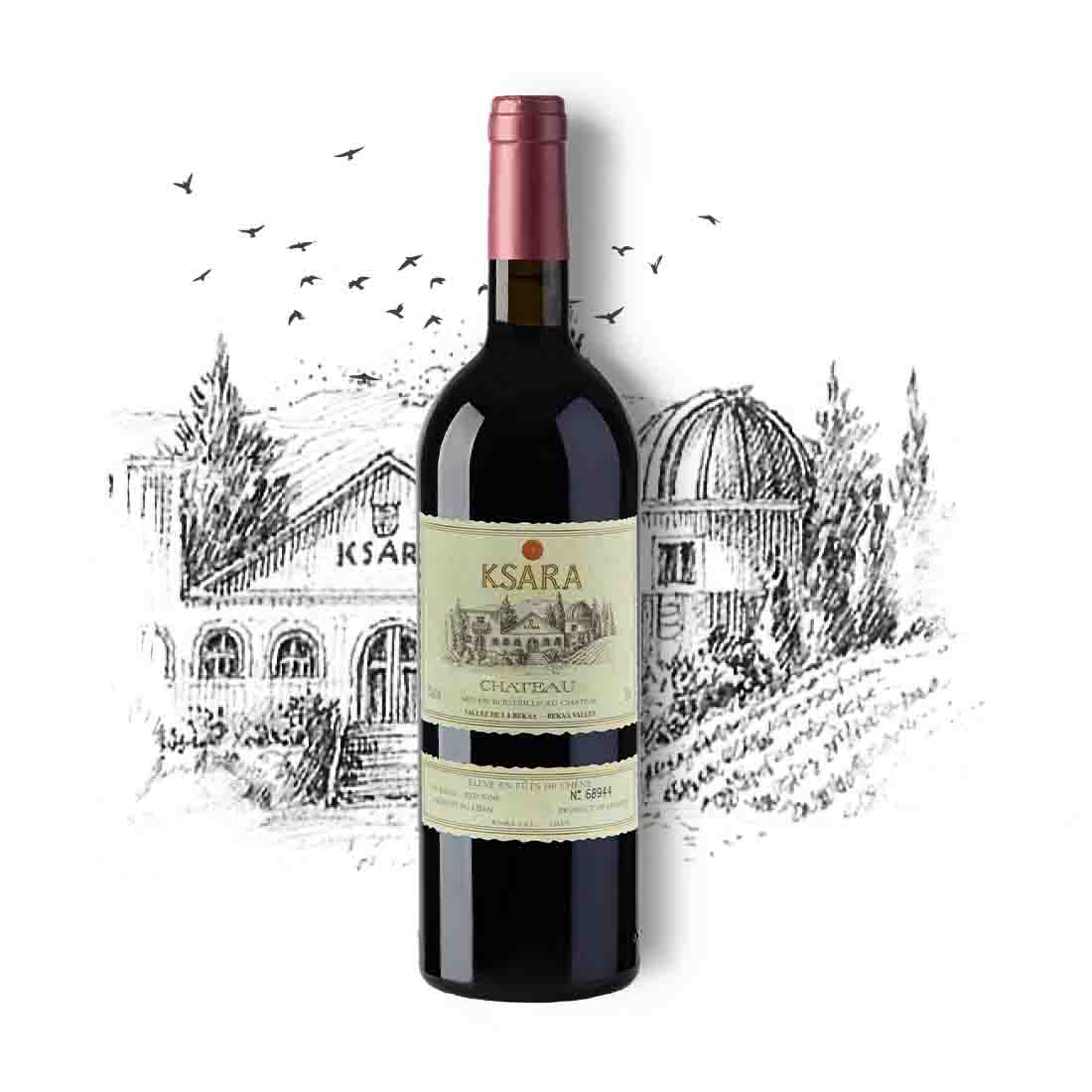 Chateau ksara award winning magnum Lebanese red wine cabernet sauvignon merlot petit Verdot bekaa