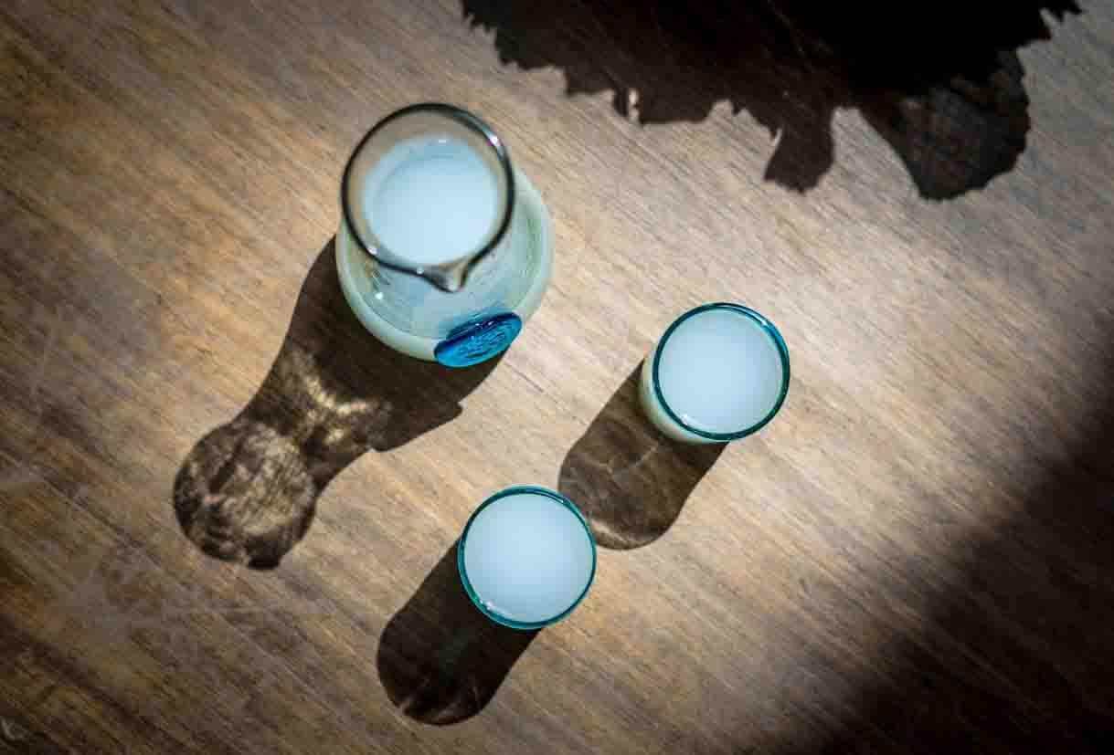 chateau ksara loyalty program gift pair of artisanal recycled arak glasses