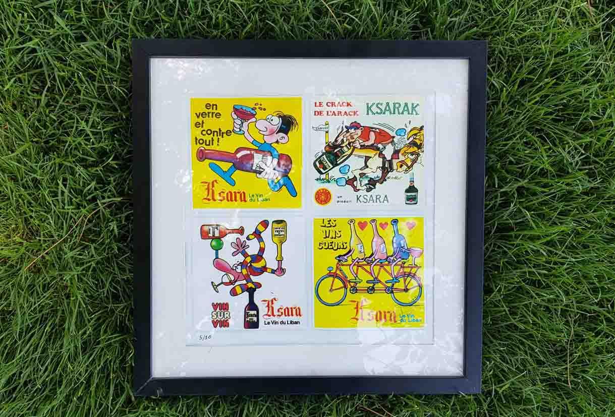 chateau ksara loyalty program gift vintage ads 70s frame